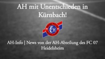 AH mit Unentschieden in Kürnbach!