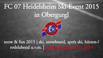Jetzt noch anmelden: FC 07 Heidelsheim – Ski-Event 2015!