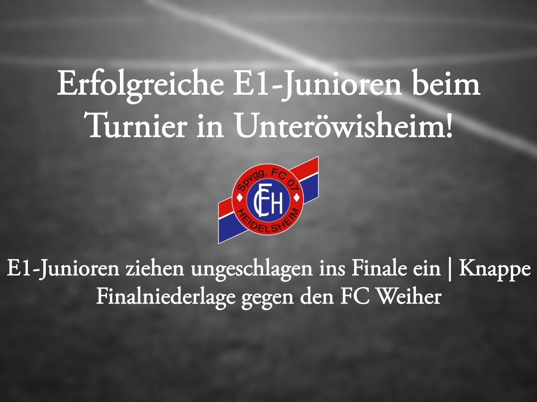 E1 erreicht Endspiel in Unteröwisheim