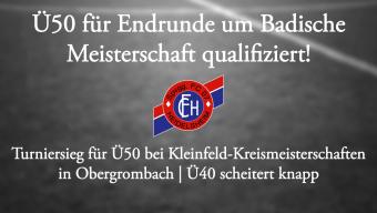 Ü50 qualifiziert für Badische Meisterschaften!