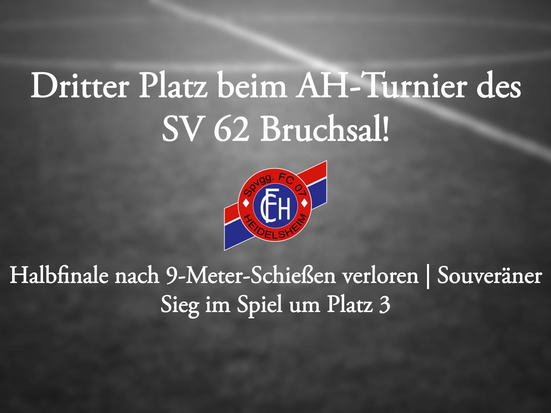 Dritter Platz beim AH-Turnier in Bruchsal!