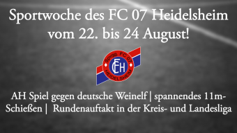 Sportwoche vom 22. bis 24. August 2015!