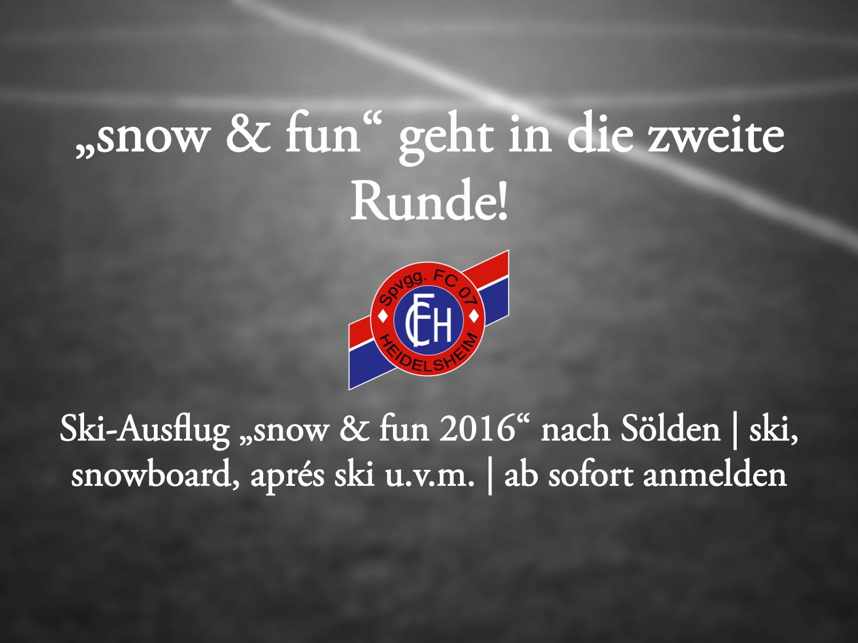 """""""snow & fun"""" – Noch Freie Plätze vorhanden!"""