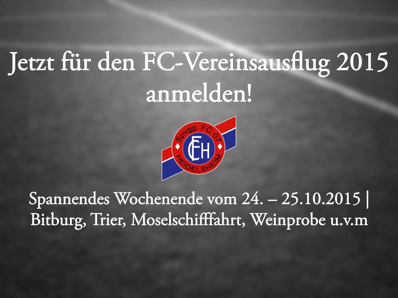 FC-Vereinsausflug – jetzt anmelden!