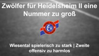 Heidelsheimer Bemühen leider nicht belohnt!