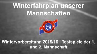 Geplante Testspiele des FC 07 Heidelsheim