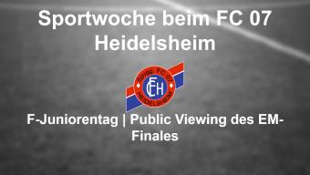 FC 07 Sportwoche 08. bis 11. Juli 2016