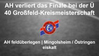 Bittere Niederlage bei der Ü 40 Kreismeisterschaft im Großfeld für die FC 07 Heidelsheim AH