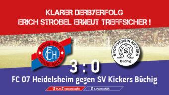 Klarer Derbyerfolg, Erich Strobel erneut treffsicher!