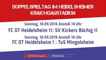 Doppelspieltag im Heidelsheimer Kraichgaustadion am kommenden Sonntag, 18. September 2016