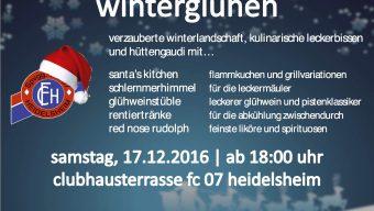 Winterglühen, Samstag 17.12.2016   ab 18:00 Uhr