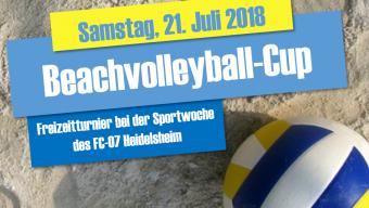 Jetzt anmelden zum Beachvolleyball-Cup!