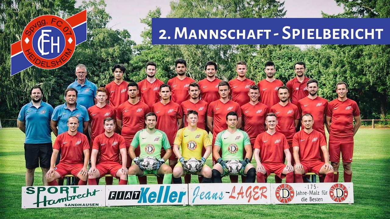 Zweite erreicht Kreispokalviertelfinale!