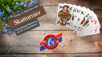 1. Skatturnier des FC 07 Heidelsheim am 11. September 2020!