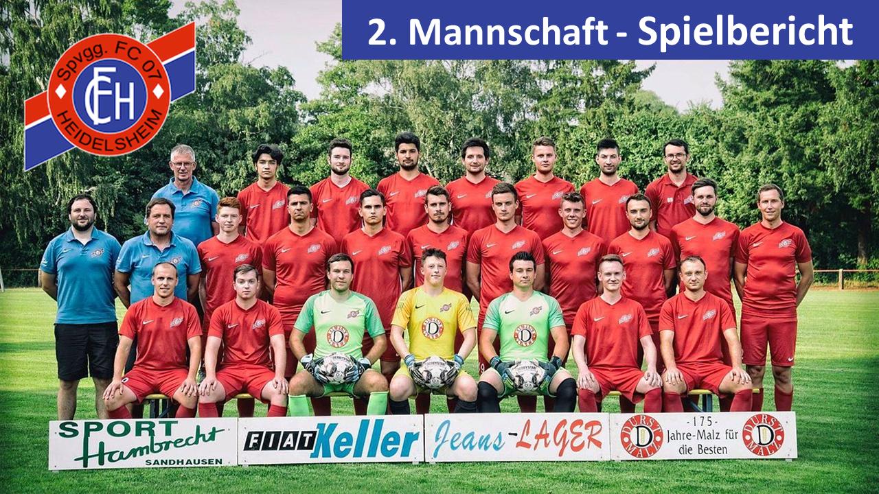 Unentschieden gegen den höherklassigen FV Ubstadt!