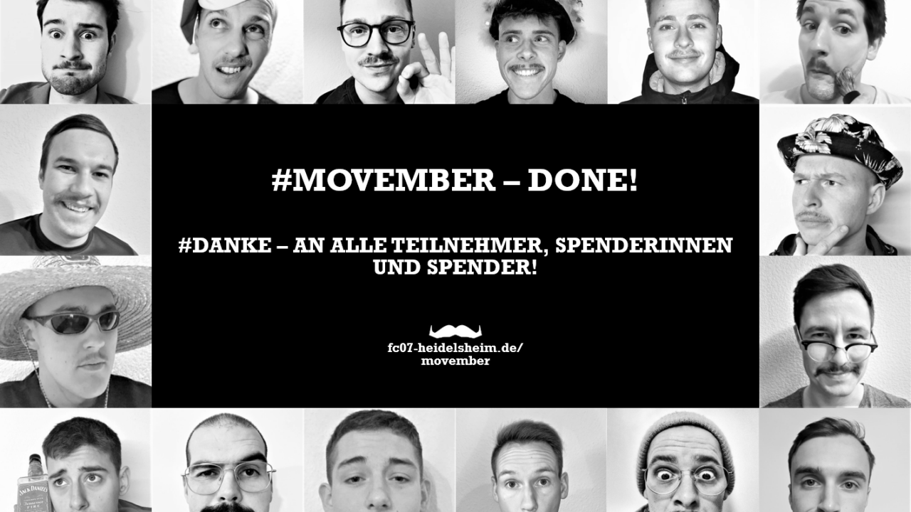 Zweite Mannschaft spendet großzügig an die Bürgerstiftung Bruchsal! #MOVEMBER
